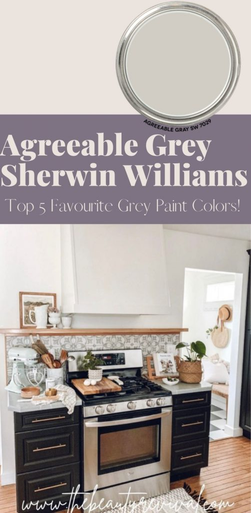 this is a pinterest pin for agreeable grey by sherwin williams