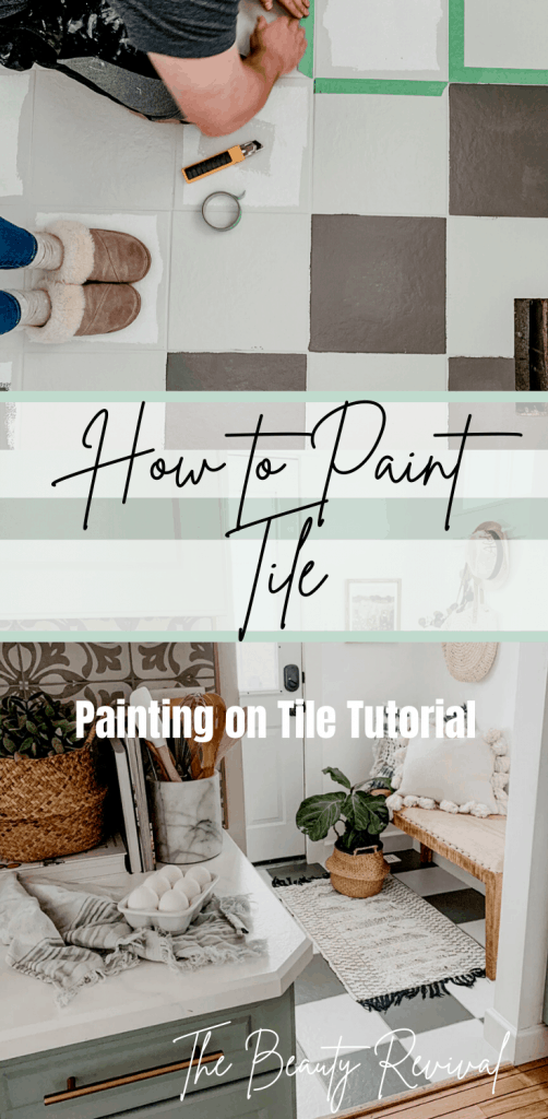 tutorial for painting on tile floors