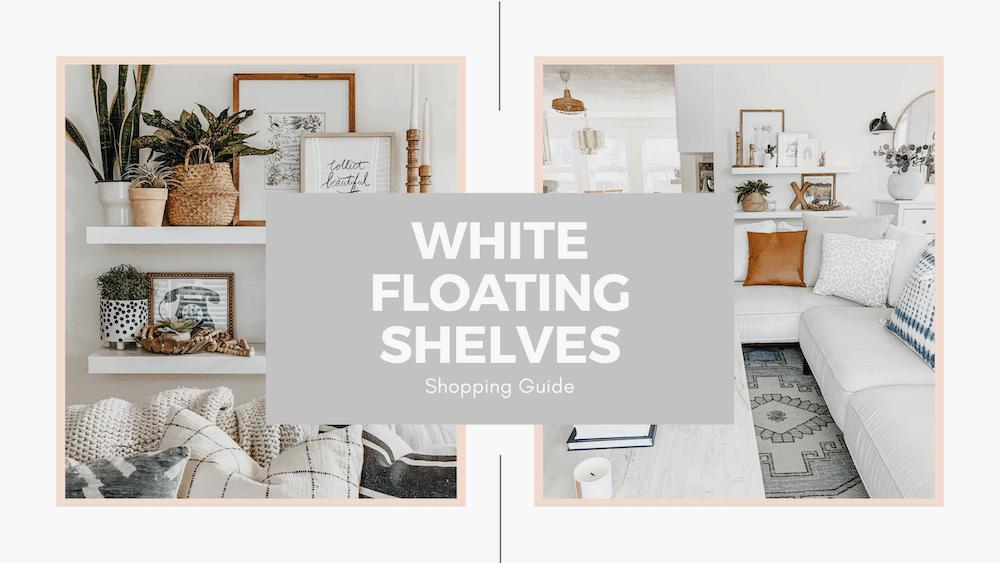 Living Room Wall Decor White Floating Shelf Shopping Guide The Beauty Revival