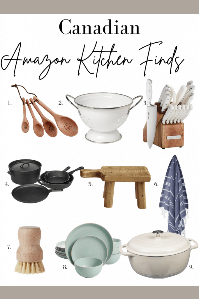 Canadian amazon kitchen finds - neutral kitchen items sourced from amazon.ca #homedecor #kitchendecor #kitchentools #amazonfinds #shoppingguide