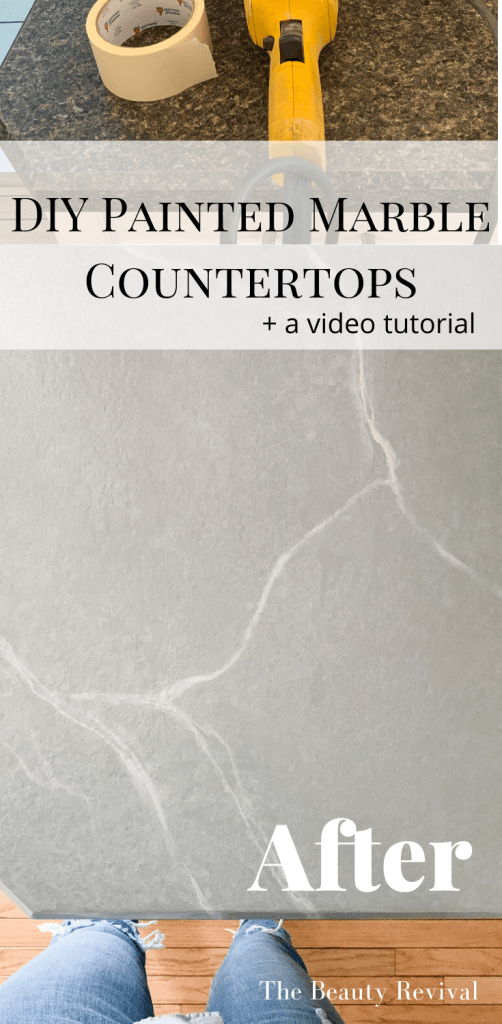 painted marble countertop tutorial