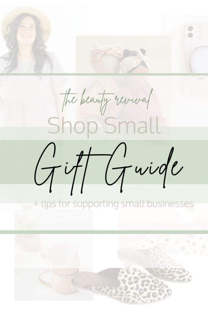 Our Shop small gift guide is here to help you find some amazing small businesses to support as well as tips and tricks on shopping small! #shoppingguide #smallshoplove #smallshop #curatedgiftguide #gifts #smallbusiness