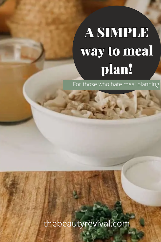 this is a Pinterest Pin for easy meal planning