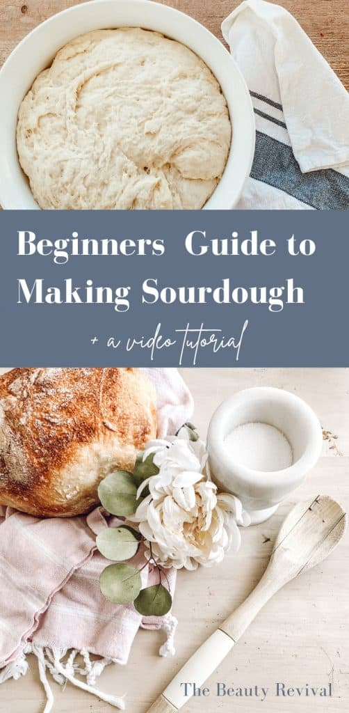 how to make sourdough bread for beginners recipe video tutorial #sourdough bread #sourdough #starter #bread #baking
