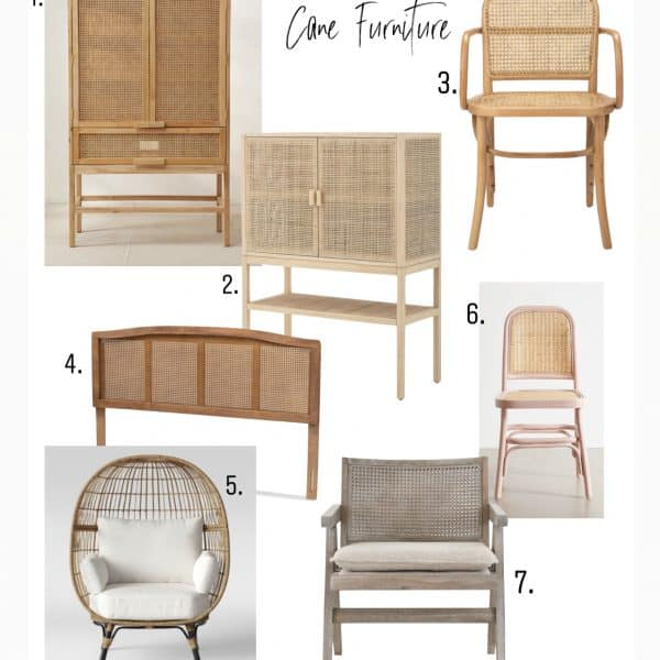 shopping guide for cane furniture