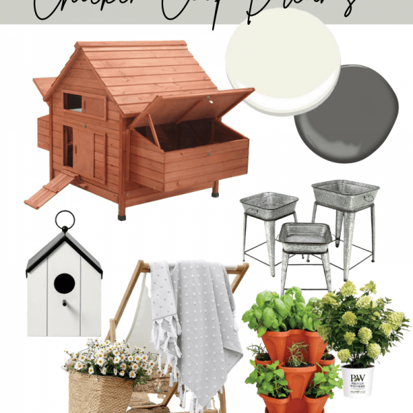 mood board for a chicken coop