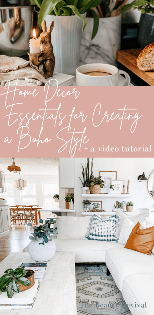 home decor essentials for creating a boho style | Room Decor Ideas | My Modern Boho Farmhouse style #modernfarmhouse #bohofarmhouse #bohostyle #bohodecor #decorideas #decortips #bohodecorideas #modernboho