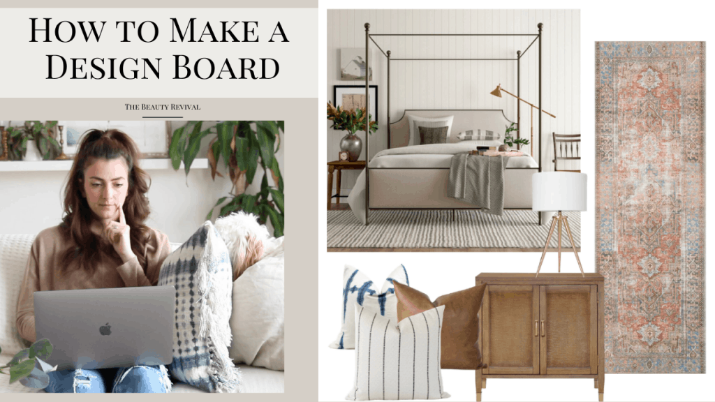 how to make a design board and the best program that I use to create all my inspiration & design boards! #designboard #moodboard #inpirationboard #howtomakeadesignboard