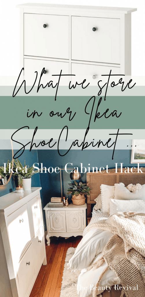 Ikea hack - what we store in our ikea shoe cabinet instead of shoes #ikeahack #storageideas #organizationtips #organization #smallspaceideas #homeorganizaton