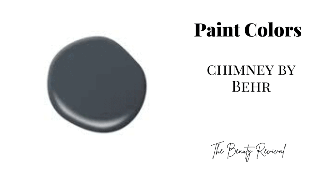 chimney by behr paint color and text