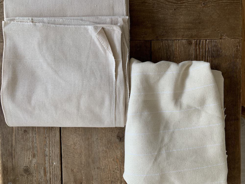 monks cloth and painters drop cloth