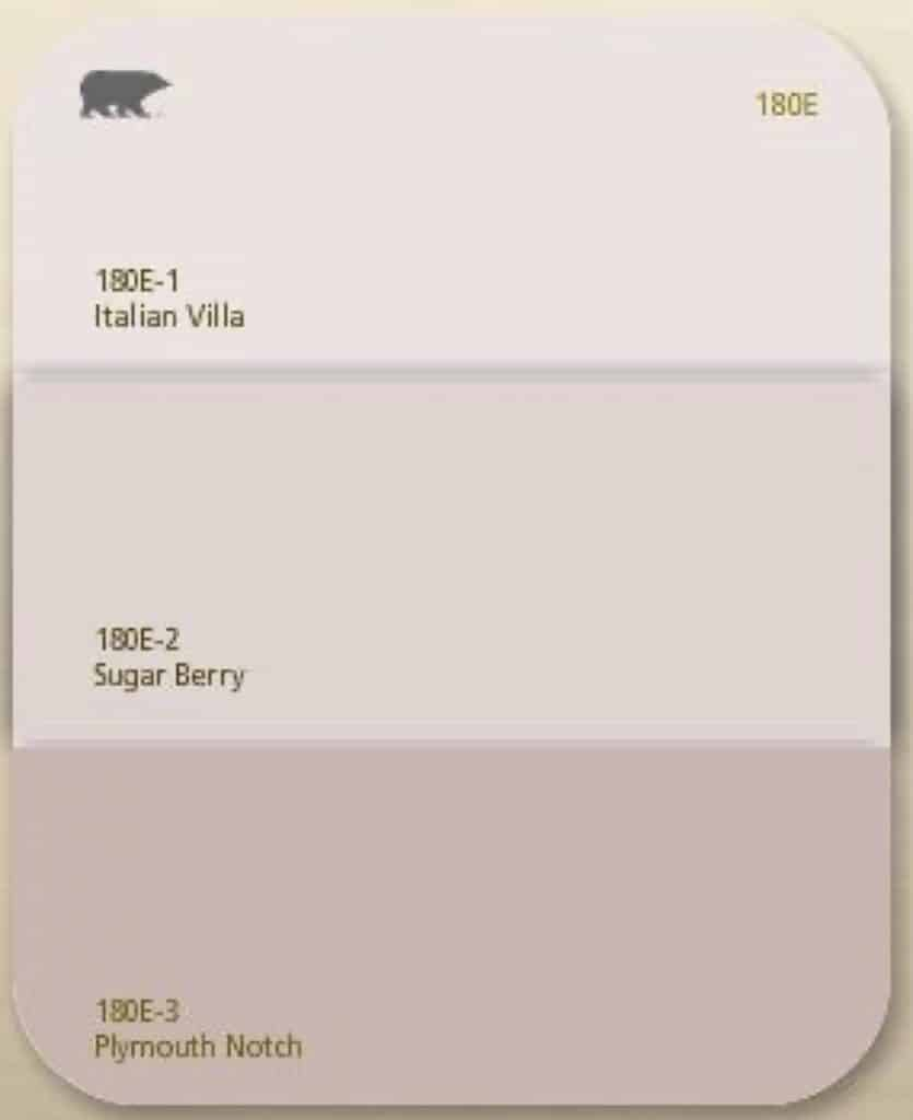 Behr paint card in shades of pink