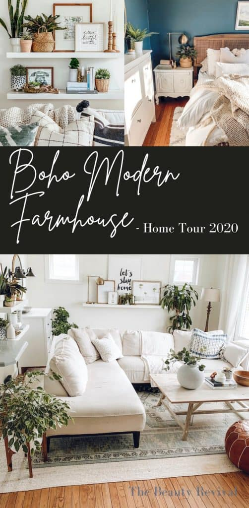 Boho Modern Farmhouse Home Tour 2020