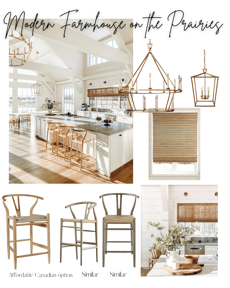 this is a graphic for modern farmhouse home decor products