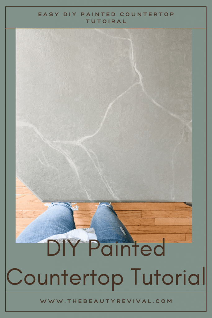 this is a pinterest pin for how to paint your laminate countertops