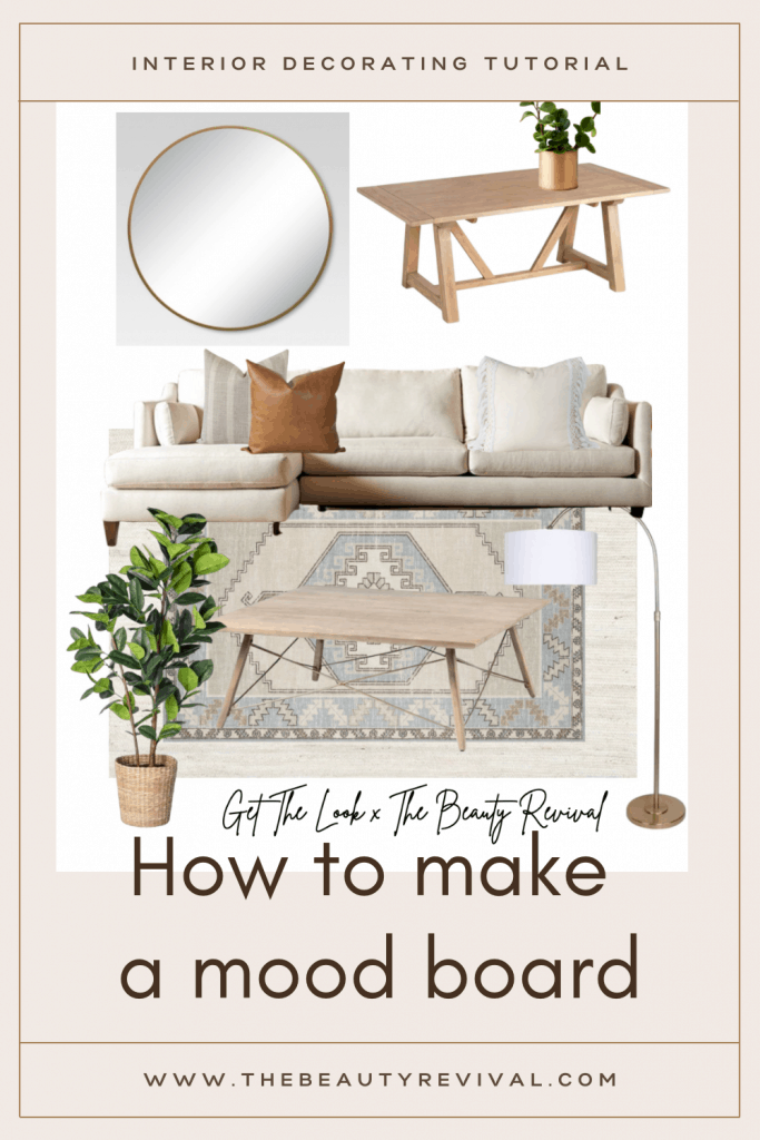this is a pinterest pin for how to create a design b board