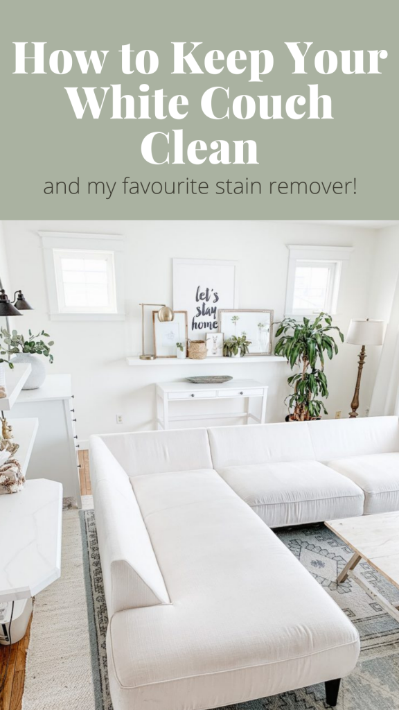 this is a pinterest pin for how to keep your white couch clean