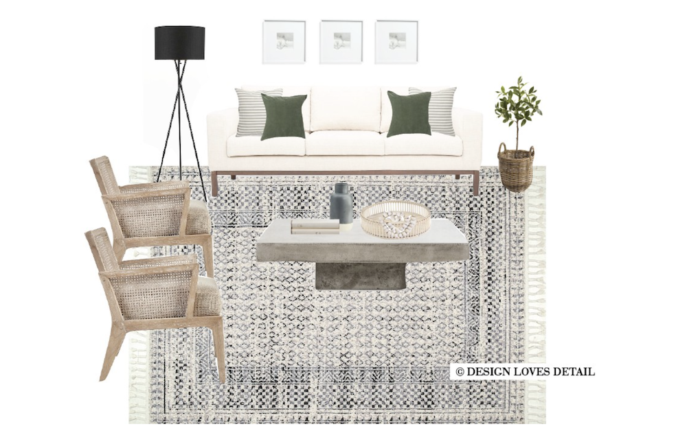 this is an image of a mood board for a bedroom for a living room