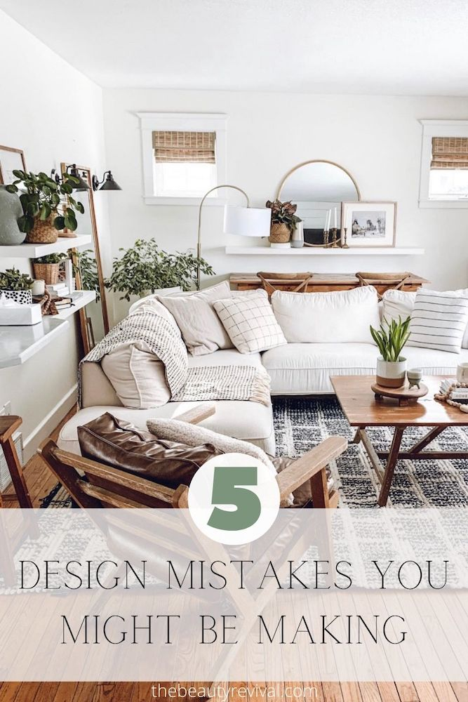 this is a Pinterest Pin for 5 design mistakes you might be making and how to avoid them