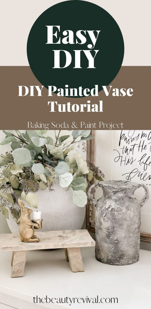 this is a pinterest pin for a DIY painted glass vase tutorial