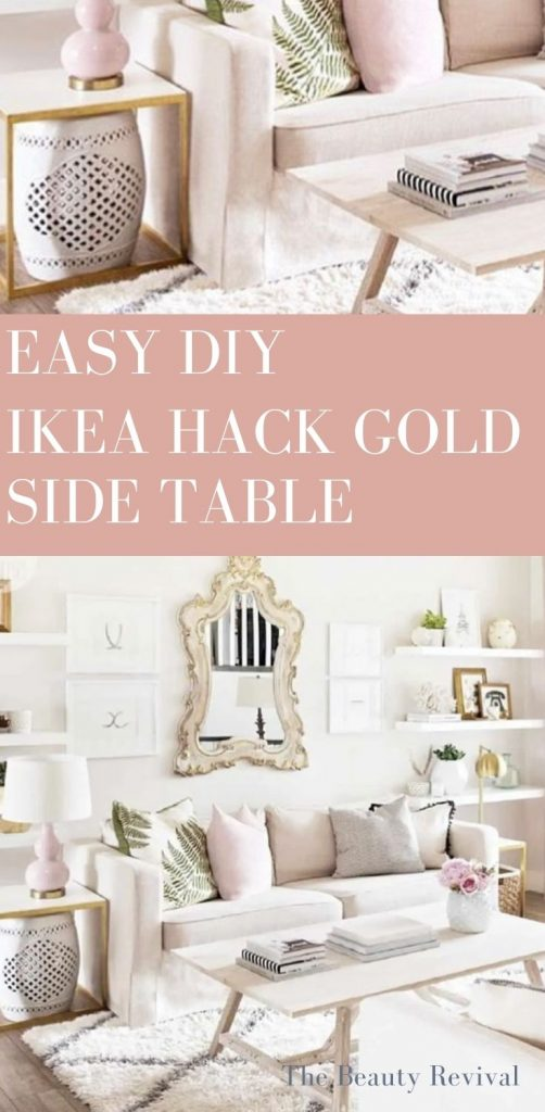 this is a pinterest pin for how to make an easy ikea hack side table