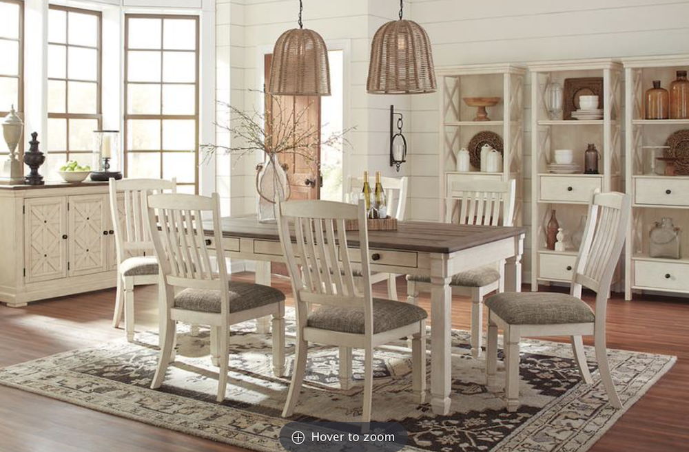 this is a photo of a matching dining room set