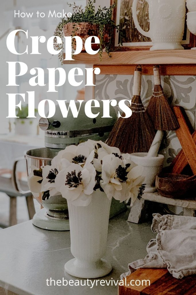 this is a Pinterest pin for how to make crepe paper flowers