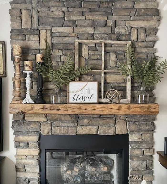 this is a photo of a fireplace
