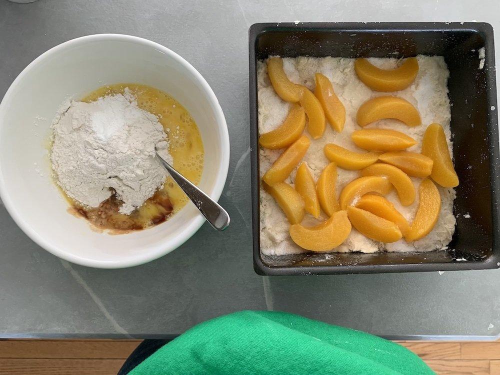 ingredients to make mennonite fruit platz