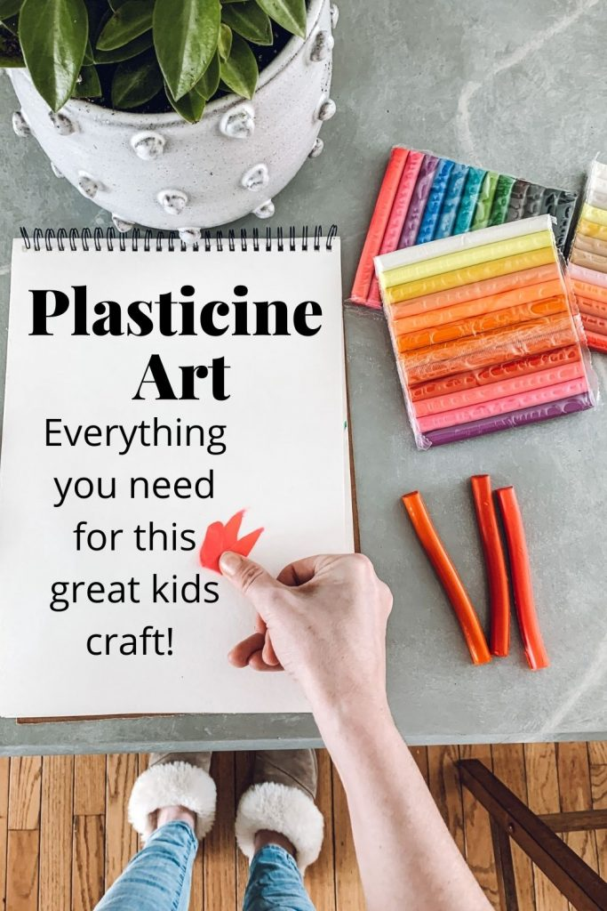 this is a pinterest pin for plasticine art - everything you need for this great kids craft