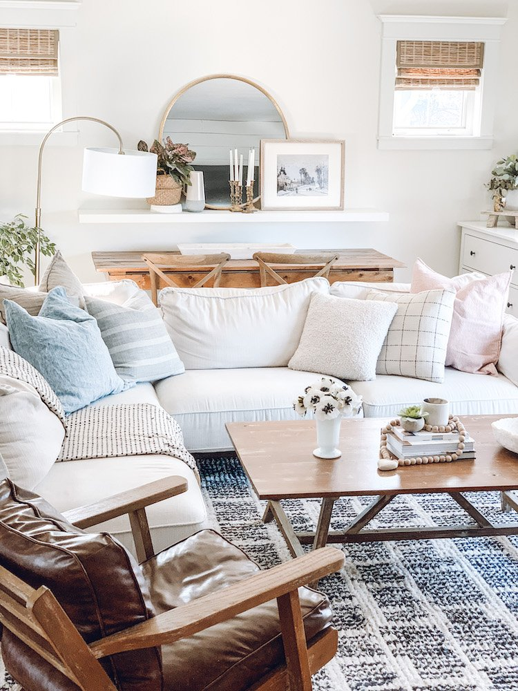 this is a photo of a living room decorated for spring