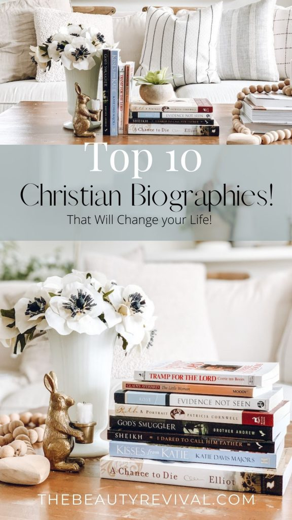 this is a pinterest pin for top 10 christian biographies