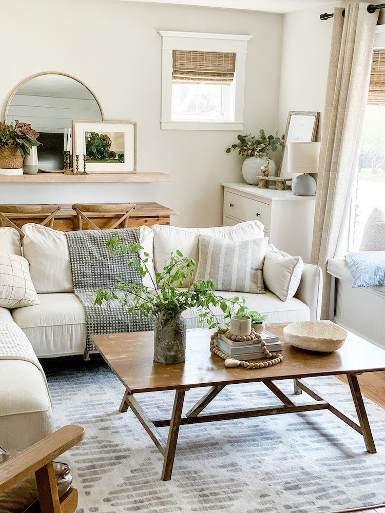 this is a photo of a modern farmhouse living room