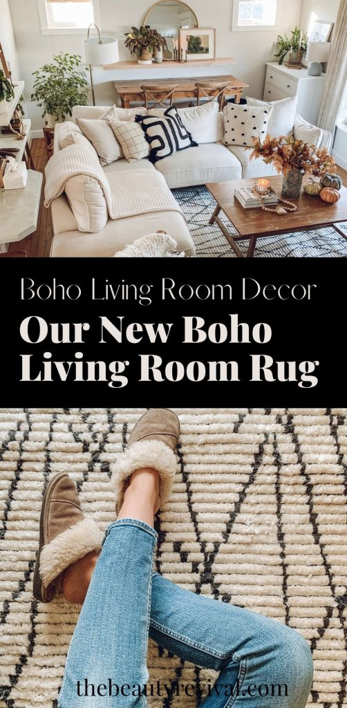 this is a pinterest pin for our new boho living room rug from loll and chrislovesjulia