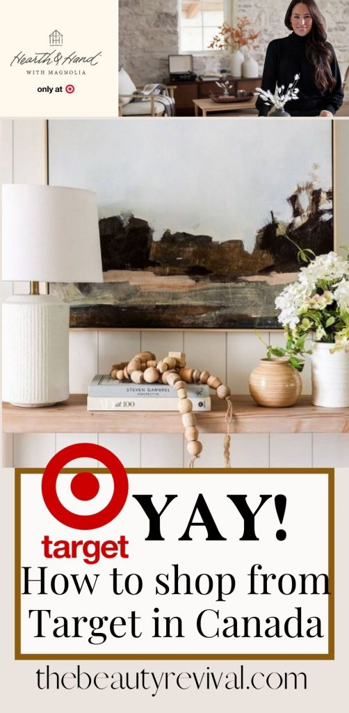 this is a pinterest photo for shopping from Target in Canada