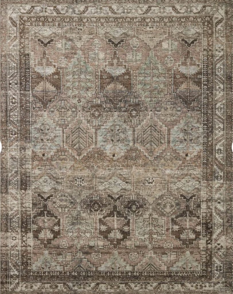 this is a review for the billie oriental clay/sage area rug