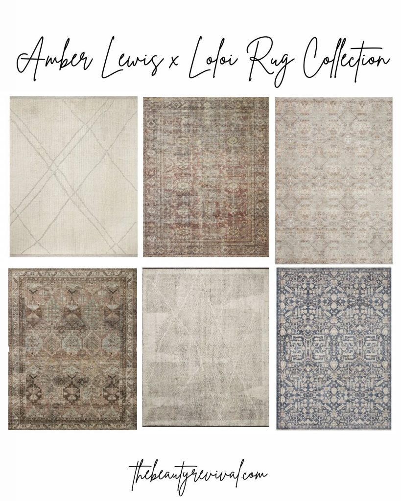 this is a photo of 6 of the best Loloi x Amber Lewis Rugs