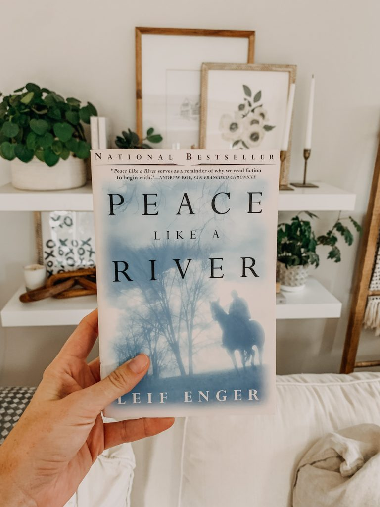 this is a photo of the book peace like a river