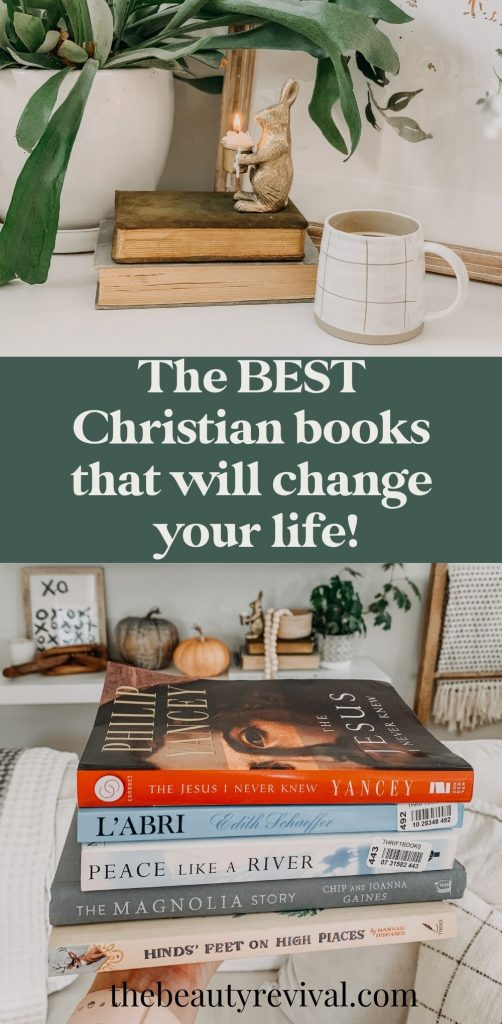 this is a pinterest pin for the best christian books that will change your life
